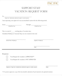 Sample Vacation Request Form Sample Vacation Request Form Free Example Format Download