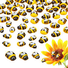 100pcs set mini bee woden diy