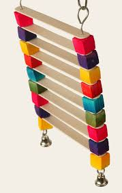 popsicle ladder parrot toy