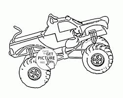 Small Picture Coloring Pages Scooby Doo Monster Truck Coloring Page For Kids