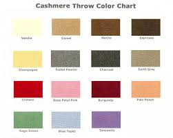 Faux Color Chart Cashmere Throw Blanket Color Chart