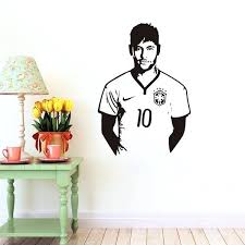 wall sticker home decor soccer sports celebrity wall sticker home decor wall decal bedroom living room wallpaper glass wall stickers home decor wall sticker