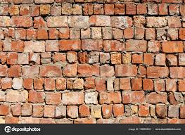 old red brick wall textured background stock photo