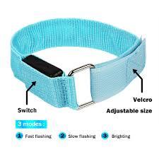Led Ankle Lights Amazon Com Led Sports Armband Lights Usb Rechargeable Slap