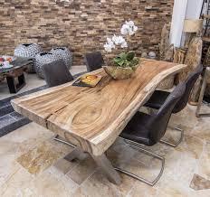 Baumstammtisch Massivholz Suar Wooden Tables Holztisch Esstisch