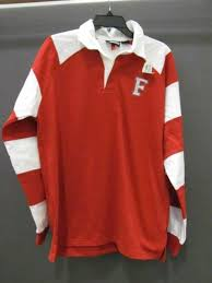 red white long sleeve rugby shirt men s m