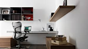 simple home office ideas. Simple-home-office-design-ideas-wall-mounted-laptop- Simple Home Office Ideas W