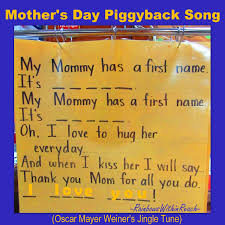 Mother Day Chart Mothers Day Gift Rhyme Mothers Day Songs Mothers Day