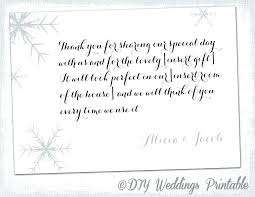 thank you note template snowflake card winter wedding registry cards solstice greetings for money gift best