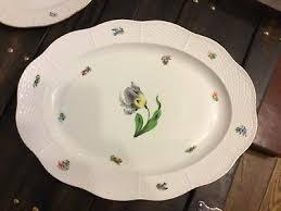 rare vintage herend hungarian porcelain large oval plate 37 cm