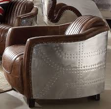 brancaster retro brown leather chair main image