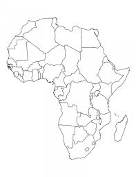 Empty Map Of Africa Blank Map Of Africa Printable Map Of Africa For