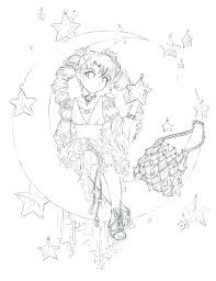 Anime Drawing Coloring Pages Anime Drawing For Kids At Animation