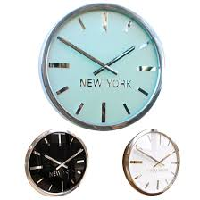 swiss manhattan custom time zone wall clock