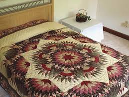 Compass Star Quilt -- superb cleverly made Amish Quilts from ... & Rose Green and Beige Compass Star Quilt Photo 1 ... Adamdwight.com