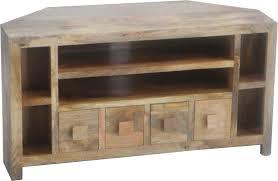 jaipur dakota light mango wood 4 drawer corner plus tv unit