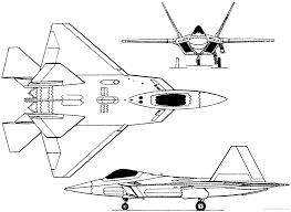 F 22 raptor blueprints