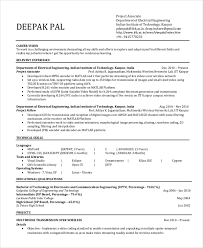 electrical engineering resume template free word pdf document software  engineer example documents