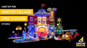 Lego Winter Village Lights Lego Winter Village Fire Station 10263 Light Kit Light My Bricks