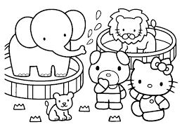 Small Picture Emejing Coloring Pages Kitty Summer Images New Printable