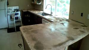 Poured Concrete Kitchen Floor Custom Concrete Counter Tops Start To Finish Part 2 Youtube