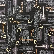 NT02 Brass Instruments Copper Metallic French Horn Quilt Cotton ... & NT02 Brass Instruments Copper Metallic French Horn Quilt Cotton Quilting  Fabric Adamdwight.com