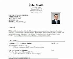 Sample Resume Format Inspiration Standard Resume Format Sample Resume Format For Fresh Graduates Two