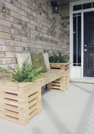 pallet wood planter. wood pallet bench with planters planter