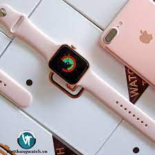 Đồng Hồ Thông Minh T500 Fullbox, Chống Nước, Kết Nối Bluetooth Màu  Hồng.Kiểu dáng Apple Watch series 5
