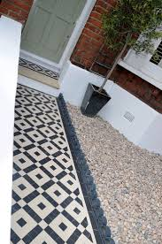 garden wall ideas dublin. plastered rendered front garden wall painted white metal wrought iron rail and gate victorian mosaic tile ideas dublin y