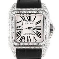 men 039 s cartier santos 100 xl diamond watch original image is loading men 039 s cartier santos 100 xl diamond