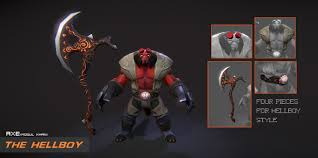 steam workshop axe with the hellboy horns
