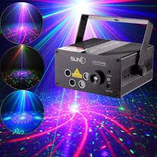 Online Laser Light Show Laser Lights Music Show Dj 80 Combinations Laser Gobos Projector Indoor 5 Lens 3 Color Rgb Decoration Light Blue Led Remote Cont