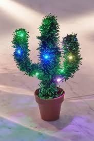 Christmas Cactus Light Up Light Up Potted Cactus Urban Outfitters Everything That