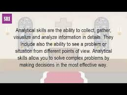 What Is The Meaning Of Analytical Skills Youtube