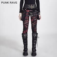 <b>PUNK RAVE Gothic</b> Women Broken Mesh Leggings High Elastic ...
