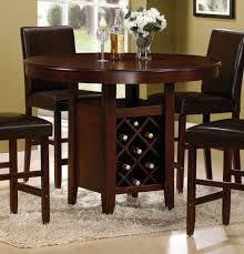 amazon counter height dining table with wine rack cherry Dining Room