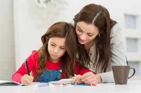 Children on Homework Assignments