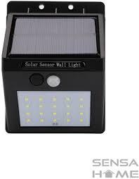 Solar Led Lamp Met Bewegingssensor Op Zonne Energie Tuinverlichting Met 20 Led Lampen