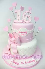 Pink Theme Sweet Sixteen Birthday Cake Singapore 21st Birthday