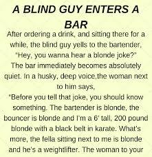 A Blind Guy At A Bar Funny Story CLICK YUPS Stunning Funny Istory