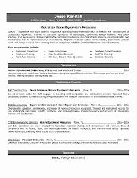 Forklift Driver Resume Template Best Forklift Operator Resume Luxury