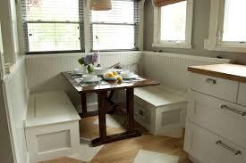White Breakfast Nook White Breakfast Nook Table Home Design Ideas