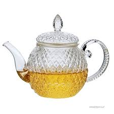 beileer clear glass teapot heat resistant teapots 500 ml with infuser for tea leaf loose tea