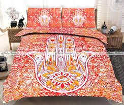 queen size orange hand hippie cotton mandala bedspread bohemian bedding sets quilt cover set bohemian bedding sets