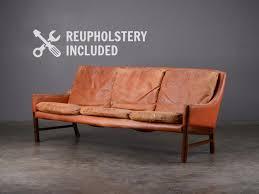 mid century leather sofa fredrik kayser
