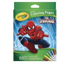 Small Picture Mini Coloring Pages Marvel Spiderman Crayola