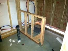 building shower walls building a stud wall in a bat build a half wall for shower