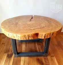 sliced log coffee table round coffee table live edge industrial tree slice log rustic furniture living