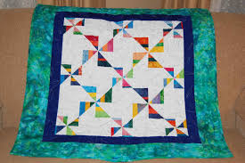 Quilted with TLC - Quilt Gallery - Baby Quilts & Striped Pinwheel Adamdwight.com